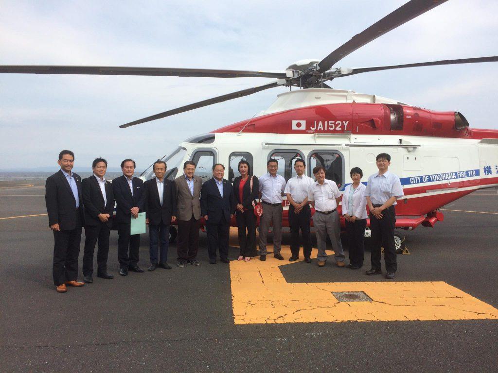 30.特別委員会において、いざ災害に備え福浦の航空基地を現場視察。市民の安全安心のために❗️